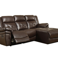 Dark Brown Bonded Leather / Match Reclining Sofa Lounger