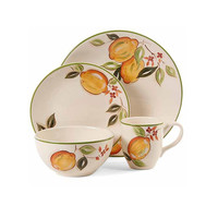 Gibson Home Lemon Harvest Time 16-Piece Dinnerware Set, Multi-Color