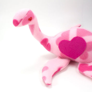 Love Ness Monster - Stuffed Animal Plush Toy Valentine Loch Ness Monster
