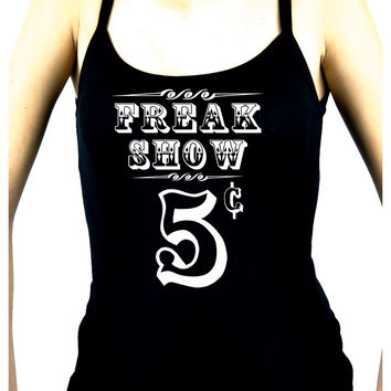 Freak Show Poster Women's Spaghetti Strap Shirt Alternative Clothing