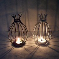 Simple Design Iron Creative Romantic Home Lights Decoration Candle Stand [6034199745]