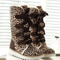 Dark Coffee Round Toe Fashion Mid-Calf Boots