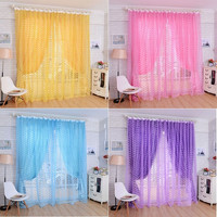 Striking Rose Tulle Window Screens Door Balcony Curtain Panel Sheer Scarfs = 1958095492