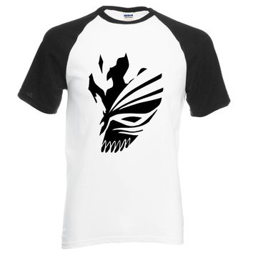 Anime BLEACH Kurosaki Ichigo men t shirt 2016 summer 100% cotton high quality raglan men t shirts for fans casual brand clothing