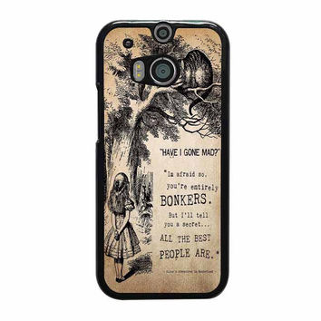 alice in wonderland bonkers htc one m7 m8 cases