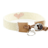 HK x CL | Rose Mix Single Wrap Bracelet with Hello Kitty Charm - Chan Luu