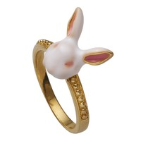 White Rabbit Enamel Ring