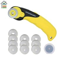 28mm Rotary Cutter 10pc Refill Blades Sewing Tool For OLFA Fabric Paper Vinyl Circular Cutting Knife Blade Patchwork Leather