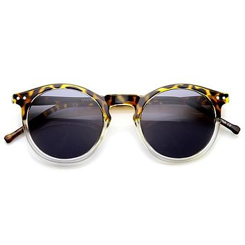 Dapper Indie Round P3 Keyhole Horned Rim Sunglasses 9569