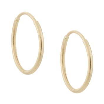 Mini Solid Hoops 14KT