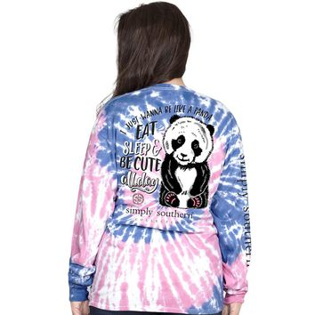 "Simply Southern ""Preppy Panda"" Long Sleeve Tee"