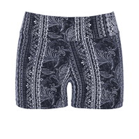 Ultra Soft Knit Shorts - Black Combo