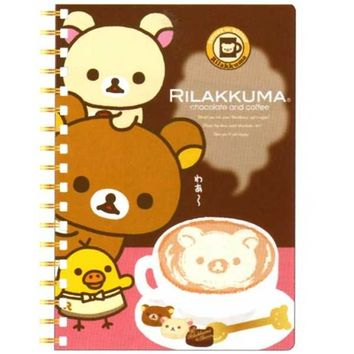 San-X Rilakkuma Chocolate and Coffee B6 Hard Cover Spiral Notebook: Coffee