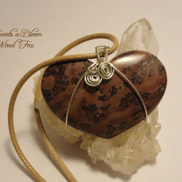 """Wire Wrapped """"Hearts a Bloom"""" Flower Jasper by The Wired Fox on Zibbet"""