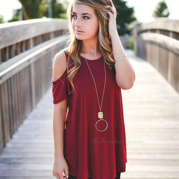 Burgundy Cold Shoulder
