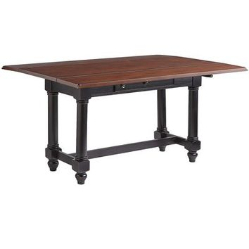 Blake Drop Leaf Table - Rubbed Black