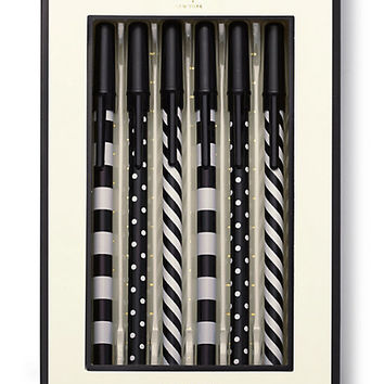 Kate Spade Top Of The Line Pen Set Black ONE