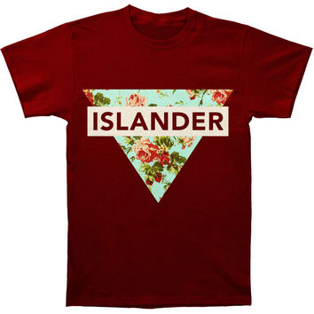 Islander Men's  Floral T-shirt Red