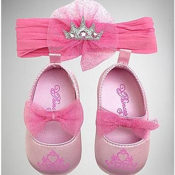 Infant Princess Headband and Shoe Set - Spencer's