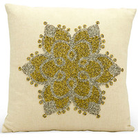 Ressa 16x16 Pillow, Beige