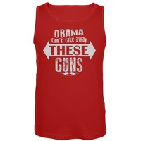 Obama Can't Take Away These Guns Red Tank Top