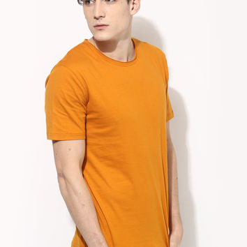 Men's Organic Cotton Plain T-Shirt in Gold