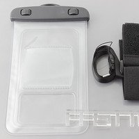 "Waterproof Pouch Case for 4.5""-5.5"" Mobile Phone w/ Armband + Lanyard"