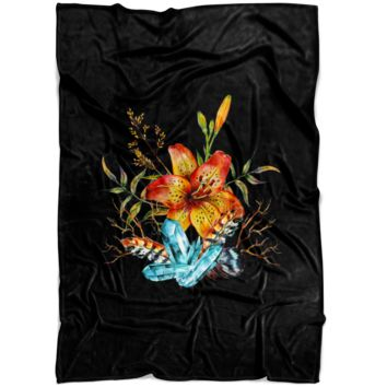 Tiger Lily Bouquet - Fleece Blanket