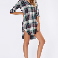 Back Again Flannel Dress