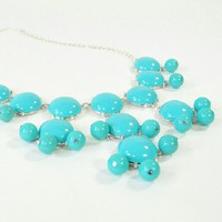 Turquoise Bubble Necklace | Bib Necklace