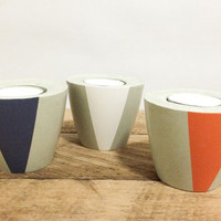 Concrete candle holder (set of 3)