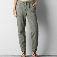 AEO PATCH POCKET LINEN SKINNY PANT
