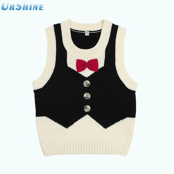 Autumn Swearter Vest For Girls Handmade Knitting Pattern Kids Pullovers Fashion Children's Clothing Sleeveless Knitwear Clothing