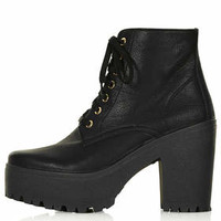ACTION Chunky Lace Up Boots - Black