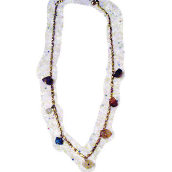Avon Crystals & Gemstones Chakra Necklace