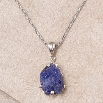 Tanzanite Pendant Necklace - One Of A Kind