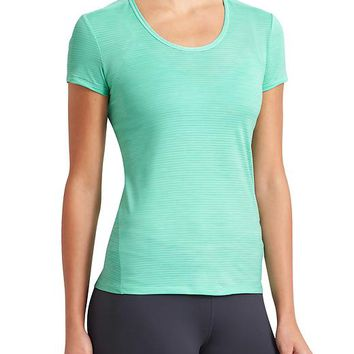 Athleta Womens Shadow Stripe Chi Tee