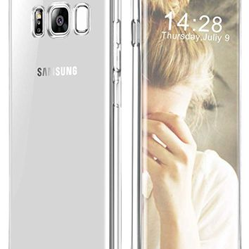 Galaxy S8 Case, GeekZone Galaxy S8 Slim Fit Crystal Clear Case Lightweight Cover Thin Protective Shell Flexible Shock Absorbing Soft Rubber Bumper Case for Samsung Galaxy S8 -CLear