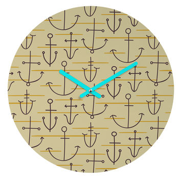 Zoe Wodarz Birch Retreat Round Clock