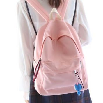 Student Backpack Children Simple fresh design pure color women backpack fashion girls leisure bag school student book bag waterpoof AT_49_3