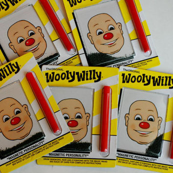 MINIATURE Wooly Willy, Magnetic Face, Small Wooly Willy.