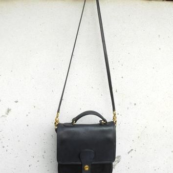 Vintage COACH Station K8G-5130 Navy Leather Messenger Bag , Shoulder Bag , Crossbody B