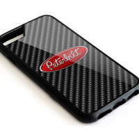 Peterbilt Truck carbon Black Logo iPhone 5 5s 6 6s 7 8 X Plus Hard Plastic Case