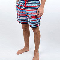 Rowdy Gentleman Nautical Swim Trunks - Nautical Red