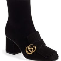 Gucci GG Marmont Fringe Bootie (Women) | Nordstrom
