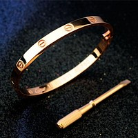 Perfect Cartier Woman Fashion LOVE Plated Bracelet Jewelry