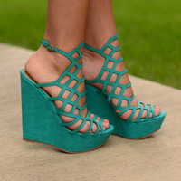 Ready For This Wedges- Aqua
