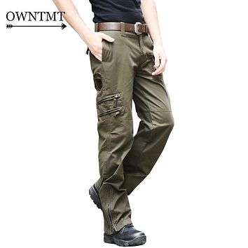 Unisex 101 Airborne TACTICAL PANTS Male Casual Cotton Combat Multi Pocket Trouser MILITARY Style Army Camouflage CARGO PANTS men
