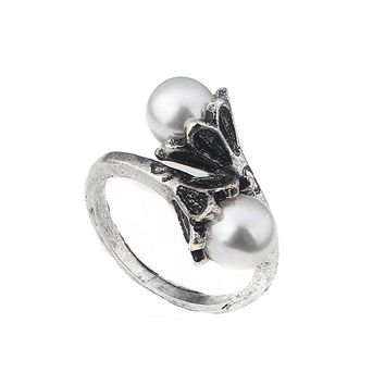 High Quality movie Game of Thrones Ring Daenerys Targaryen Simulated Pearl Women Jewelry