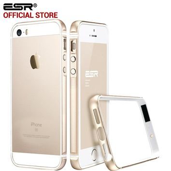Case for iphone 5s/SE, ESR Metal Frame Ultra Thin Aluminum Alloy Frame Soft bumper case for iphone SE/5/5S